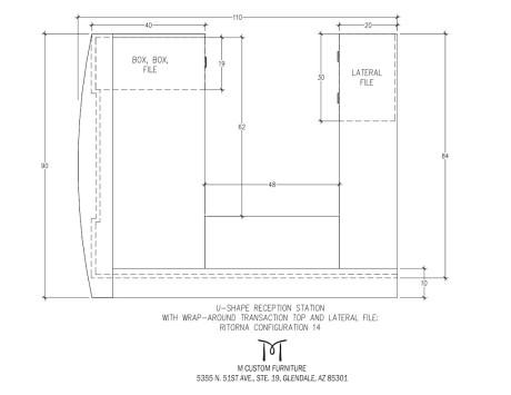 Ritorna U-Shape Reception Station Wrap Around Configuration 14