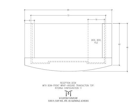 Ritorna Reception Desk Bow-Front Wrap Around Configuration 11