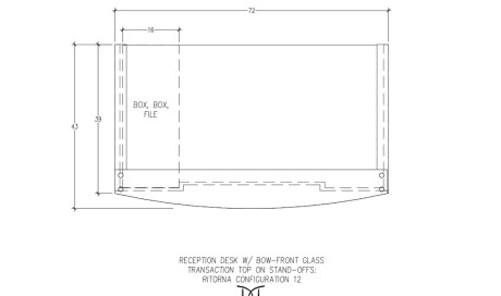 Ritorna Reception Desk Bow-Front Wrap Around Configuration 12