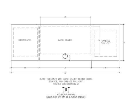 Ritorna Buffet Credenza Configuration 21