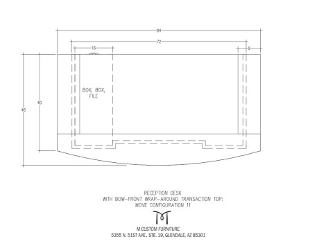 MOVE Reception Desk Wrap Around Configuration 11