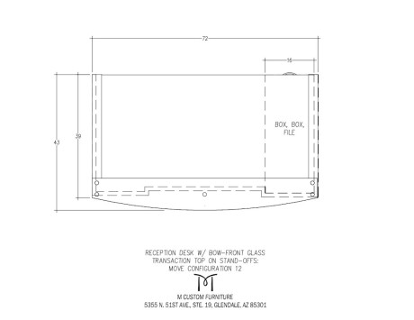 MOVE Reception Desk Glass Front Configuration 12