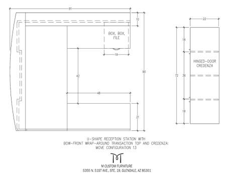 MOVE U-Shaped Reception Station Configuration 13