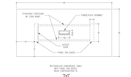 MOVE Rectangular Conference Table Configuration 16