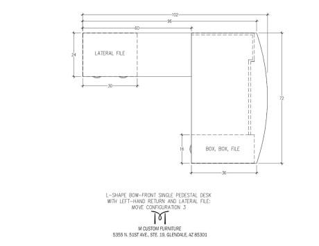 MOVE L-Shaped Pedestal Desk Left Hand Return Configuration 3