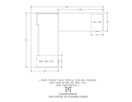 MOVE L-Shaped Pedestal Desk Right Hand Return Configuration 4