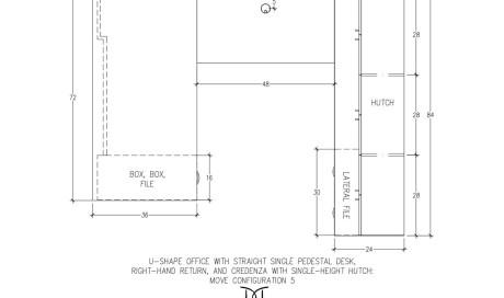 MOVE U-Shaped Desk Straight Configuration 5